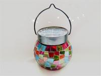 Solar LED christmas decoration light jar full color rgb glass jar for residential decorative