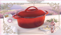 2015 best sell cast iron enamel roaster, cast iron dutch oven, cast iron casserole with enamel coating