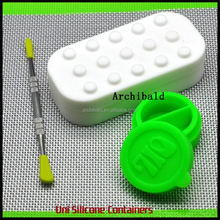 2015 hot ball shape non-stick wax oil container storage jar,silicone jar dab wax container,silicone container