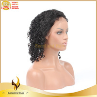Premium Products Indian Remy Aliexpress Virgin Weaving Cap Curly Human Hair Lace Wig