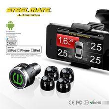 2015 Steelmate TPMS-85 car wireless DIY tpms air tool accessory, heavy duty tire pressure gauge,tyre press sensor