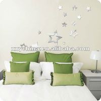 self-adhesive ikea wall mirror sticker with various shapes