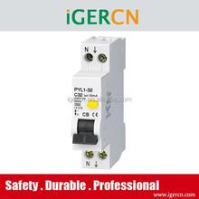 best selling elegant design Australia style earth leakage circuit breaker RCBO PYL1-32