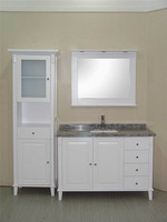 New Style!Luxury Antique White Wood Bathroom Cabinet Furniture