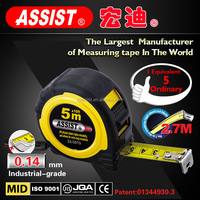 sales assistant MID /OEM rubber covered steel tape case 5m 19mm rubber tape measuring tape