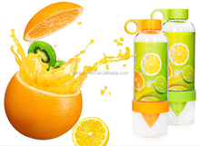 Bpa Free Food grade fruit infuser plastic aqua citrus water bottle