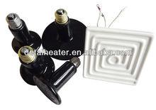 Fácil uso tubo de lámpara infrarroja de calor de cerámica