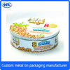 High quality cookie/biscuit packaing box round tin box