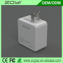 2015 New Design 3.1a dual usb wall charger us for wholesales