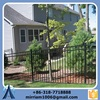 Size 1.60*1.50m Black plastic spraying rot proof Wrought iron fence for residential fence