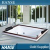 HS-B283A built-in acrylic underwater square indoor whirlpool spa bathtubs