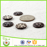 Natural coconut shell laser 10mm button, baby garment button