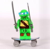 Free shipping wholesale 100boxes bricks toy building blocks educational toy Ninja turtle promotion gift for boys