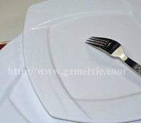 Hot sale 5 star plain white ceramic square wedding charger plates in size 8 10 12 inch
