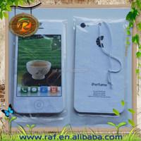 Mobile phone shape paper air freshener car scent, phone shape car aroma hanging, cell phone shape air freshener paper made