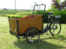 2015 hot sale 3 wheel danish electric cargo tricycle / cargo trike for kids