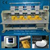 Elucky 4 heads embroidery machine sale for cap t-shirt, flat embroidery