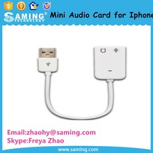 Factory Supply Wholesale Driver Free External Wire Audio Card for Iphone/PC with Lowest Price
