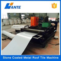 High quality aluminum zinc plate colorful stone coated metal roof tile machine, long span color coated corrugated roofing sheet