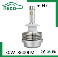 all in one aluminum 2S car led headlamp 3600lm car led headlight h1/H3/H4/H7/H11/H13 high power high power zoom headlamp