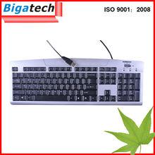 el mejor de la computadora con conexión de cable del teclado a prueba de agua sueca del teclado