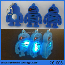 cute and fashion silicone blank keyrings wholesale