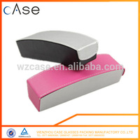 Soft PU leather small reading glasses in metal case