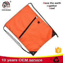 Customized polypropylene polyester nylon draw string backpack bags for promotion