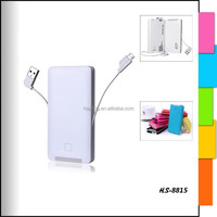 Mobilephone power bank with wireless USB cable