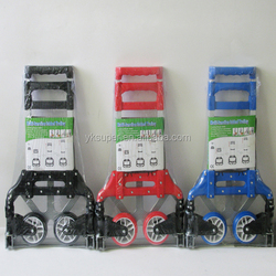 heavy duty aluminium folding hand trolley cart, foldable hand truck