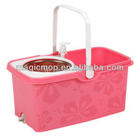 360 degrees Stainless steel basket microfiber spin mop Special cleaning mop with manufacturer cotton metal mop JW-A19