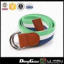 Most popular wholesale D-ring ladies custom canvas belt for women