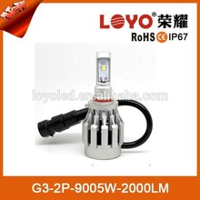Auto led headlight 60W LED chip with long time life span 9005 led headlights