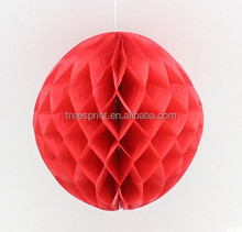 Vintage Honeycomb Tissue Paper Ball bell Pom for wedding Party decorative hearts