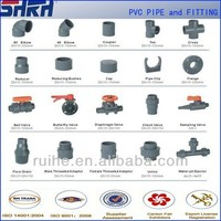 hot rubber joint type PVC pipe fittings for water supply