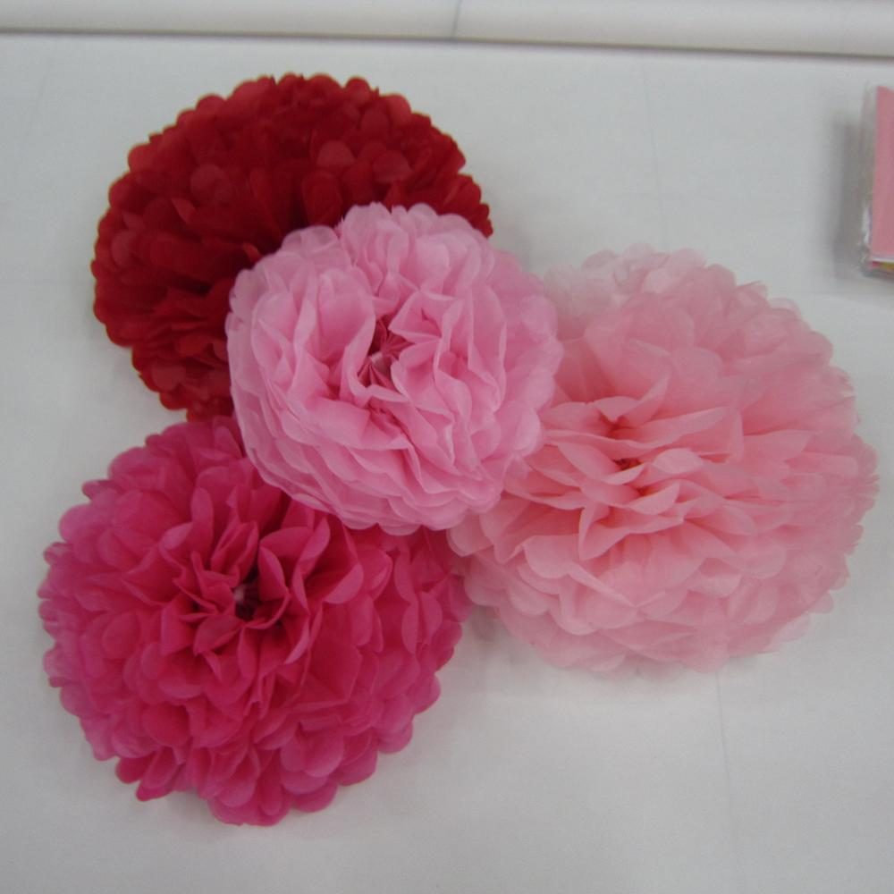 Tissue Paper Pompoms Colorful Diy Made For Wall Party Decoration