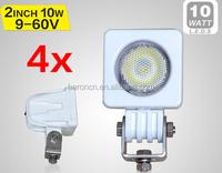 4PCS 2INCH 10W LED WORK LIGHT 800LM FLOODBEAM FOG LIGHT FOR OFFROAD MOTORCYCLE BOAT4x4 ATV 12V24V IP68