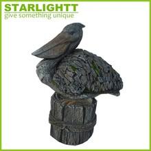 Polyresin Pelican Bird Figurine for Home decoration