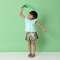 Children Summer dress, kids clothes girl's apple green bust skirt, stock wholesale age 3-7 yrs