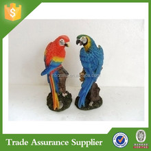 Garden animal outdoor decor resin parrot figurine