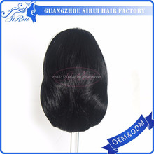 Clip on synthetic hair black skinny elastic headband ponytail, black women kinky ponytail, balls ponytail holders in yiwu
