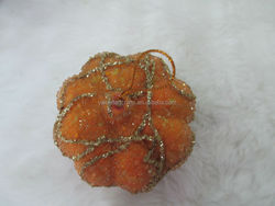high quality China foam pvc fake beaded pumpkin fruit for display