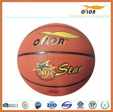 Mini rubber leather laminated indoor training basketballs