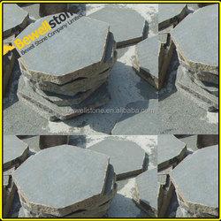 Patio Irregular granite pavers ,black irregular shape granite pavers for garden,prefab irregular granite pavers sawn