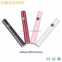 2015 electronic cigarette adjustable evod battery evod usb battery Mu510 white light evod battery