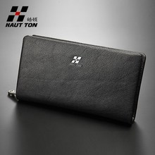 Man office business use soft leather material clutch bag