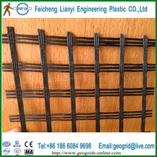 high strength fiberglass yarn woven mesh grid for asphalt reinforcement