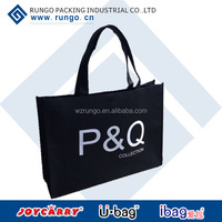 Wholesale recyclable reusable shopping bags with logo
