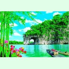 Wholesale Pop Scenery Modern Small Boat Scenery Painting