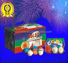 High quality fireworks color smoke balls for wholesale